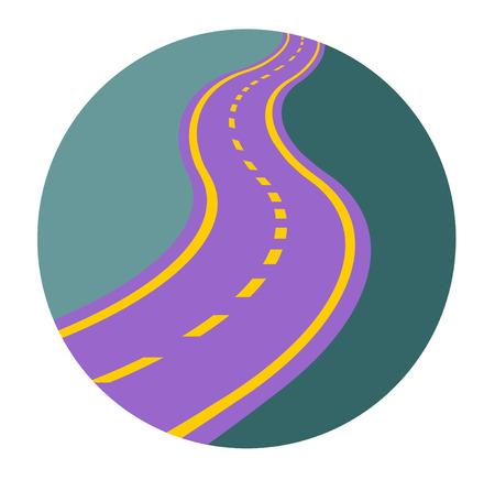 illustration journey: winding road vector eps 10 Illustration