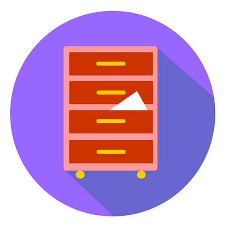 drawer: Flat catalog - drawer icon vector eps 10