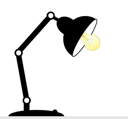 office lighting: Desk lamp - isolated on white background