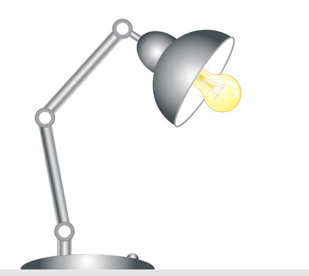 Desk lamp - isolated on white background