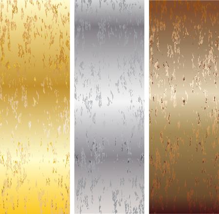 aluminum: Aluminum, bronze and brass stitched textures