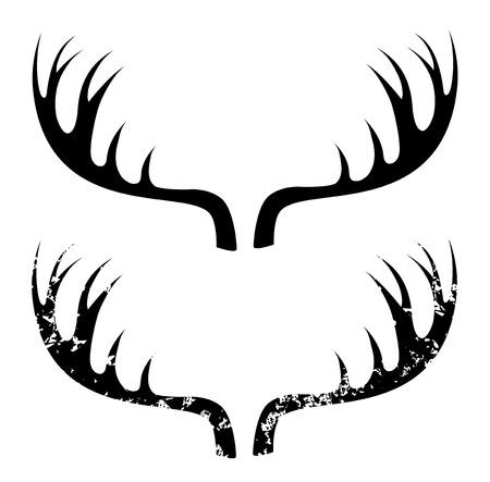 huge antlers: Deer horns Illustration