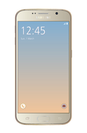 samsung galaxy: Samsung galaxy s6 gold on white