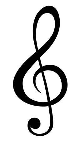 g clef: Music note symbols Illustration