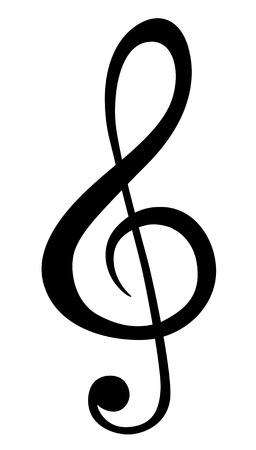 blatt: Musiknotensymbole Illustration