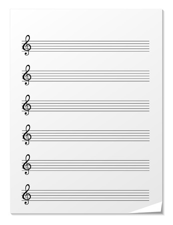 music staff: Note paper for musical notes