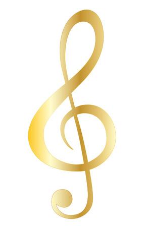 g clefs: Music note symbols Illustration
