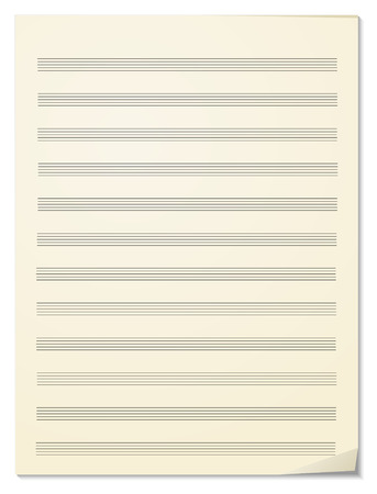 musical theater: Note paper for musical notes
