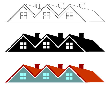 multi coloured: Group of houses Illustration