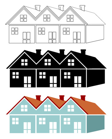 Group of houses Illustration