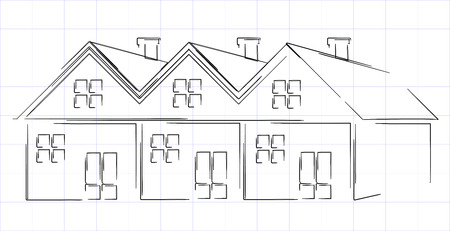 annuities: Group of houses Illustration