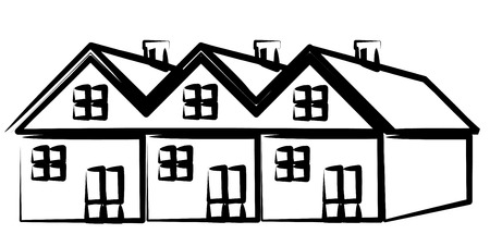 home ownership: Group of houses Illustration