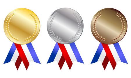 silver ribbon: medal