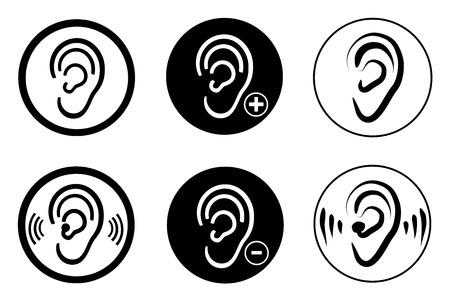 Audífono del oído tema sordos