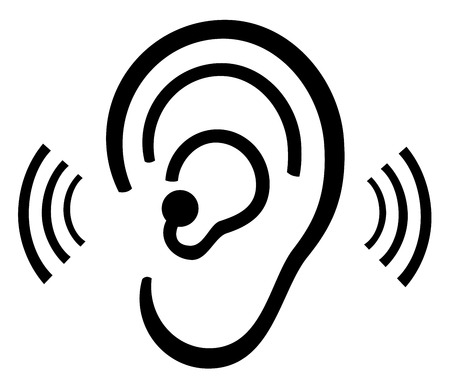 using senses: Ear symbol
