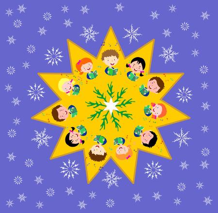carols: kids singing Christmas carols