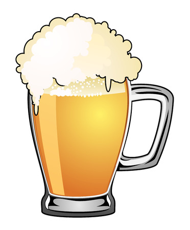 frothy: beer mug isolated on a white background