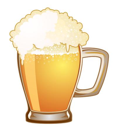 mug: beer mug isolated on a white background