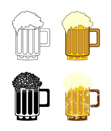 sharpen: beer mug set Illustration