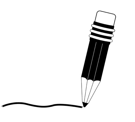 sharpening: Pencil with writing stroke line Illustration
