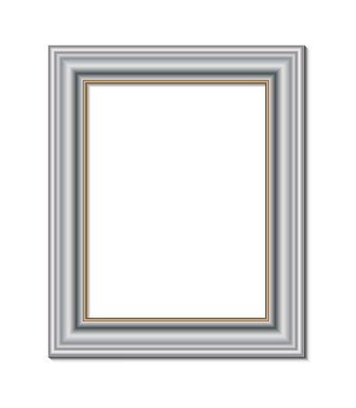 stock photograph: frame for painting or picture on white background vector