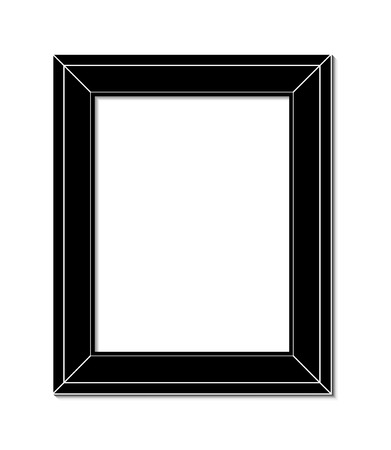 frame wall: frame for painting or picture on white background vector