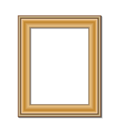 photo frame: frame for painting or picture on white background vector   Illustration