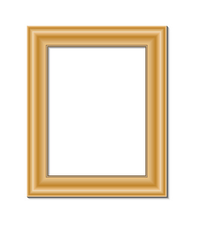 articles of furniture: frame for painting or picture on white background vector   Illustration