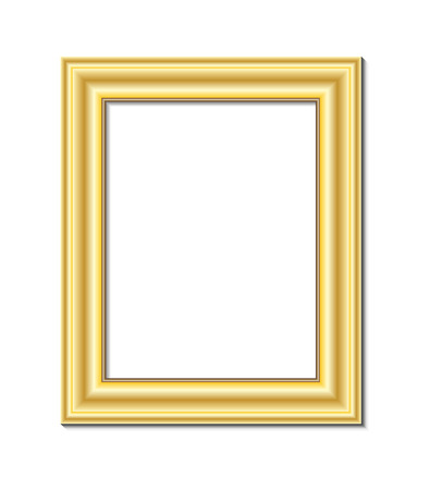 article of furniture: frame for painting or picture on white background vector   Illustration