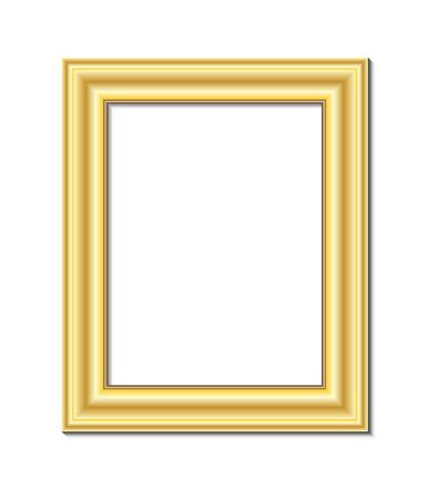 madera rústica: marco para la pintura o la imagen sobre fondo blanco vector