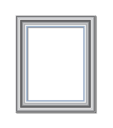 stock photograph: frame for painting or picture on white background vector   Vettoriali