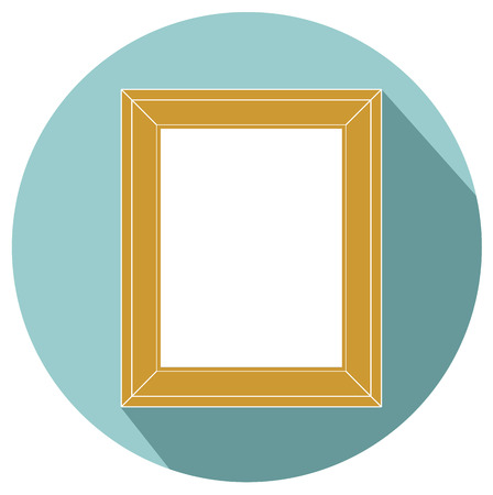 articles of furniture: frame for painting or picture on white background vector