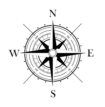 Windrose Standard-Bild - 43685875