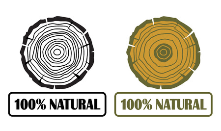 conception: 100 natural conception with growth rings vector Illustration