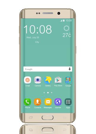 mobile avec icône sur l'écran Éditoriale