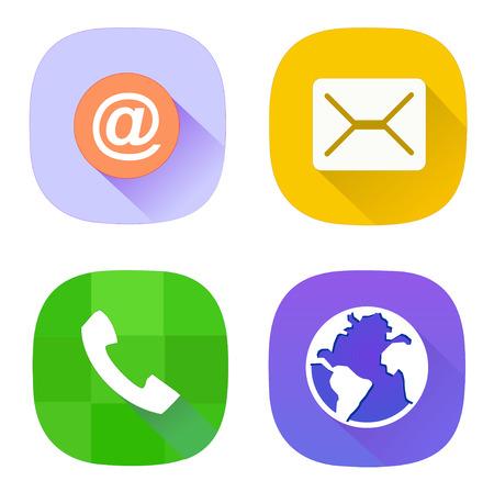 Móvil, correo electrónico, mensajes e Internet icono del vector EPS 10 Foto de archivo - 43871200