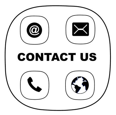Móvil, correo electrónico, mensajes e icono de internet vector eps 10 Ilustración de vector