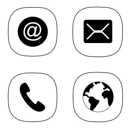 Mobile, E-Mail, Nachrichten und Internet-Symbol Vektor eps 10