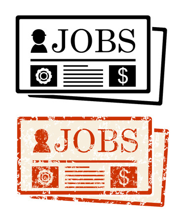 employment issues: Jobs in newspaper Illustration