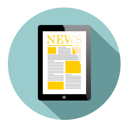 business news: Business news on Tablet PC Illustration