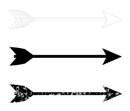 darts flying: bow arrows