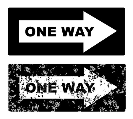 one lane road sign: One Way Sign