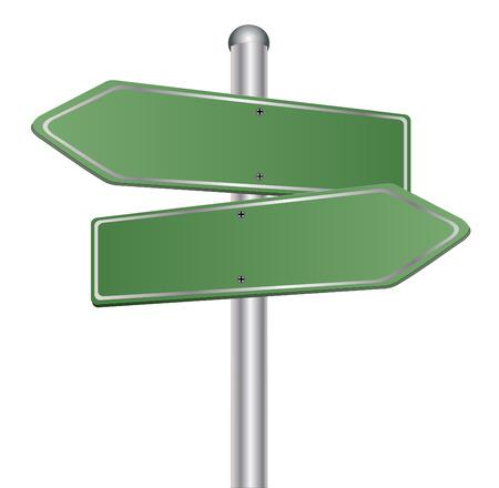 directions: Blanco tekenen wijzen in tegengestelde richtingen Stock Illustratie