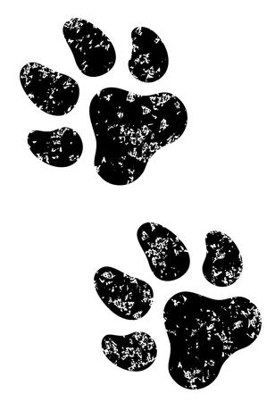 animal: Zwart dier pootafdruk Stock Illustratie