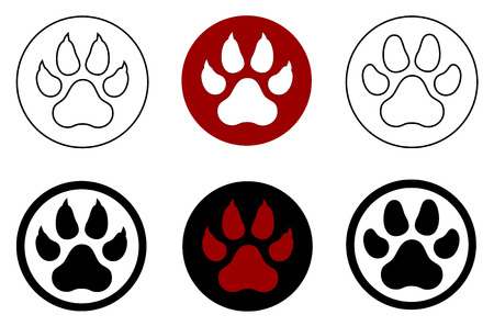 animal paw print Illustration