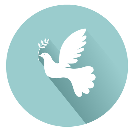 shadows: Peace dove with olive branch