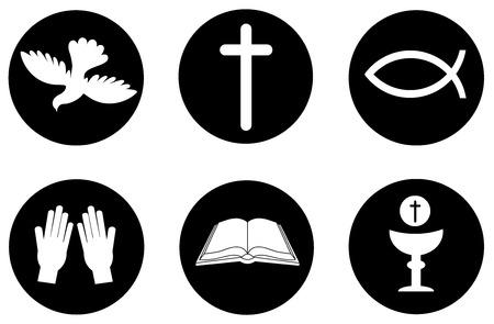 cristianismo: Iconos y símbolos Cristianismo Vectores