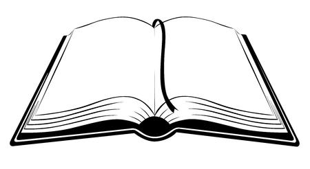 libro abierto: Libro icono diseño plano