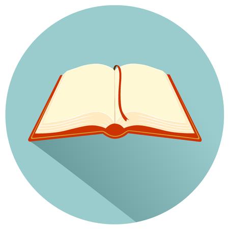 book vector: Book flat design icon vector