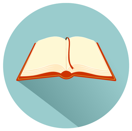 media: Book flat design icon vector